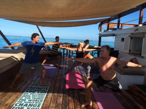 June 7 · Edited · Yoga Cloud 9 what an amazing morning and Practice with some special people. We opened our hips, our hearts & grounded towards the ocean beneath! Thank you Iris Kröncke, Michael, Barel Wachtel, Elvis and John Hembrow! Now anchoring ready to surf....high on Life! — at Cloud 9.
