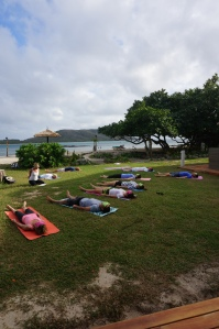 Yesterday ·   Yoga this morning, sharing my #Blissology inspired #yoga practice with Nanuya Island Resort guests, ICA Cruisers & international boats anchored in the beautiful Blue Lagoon!