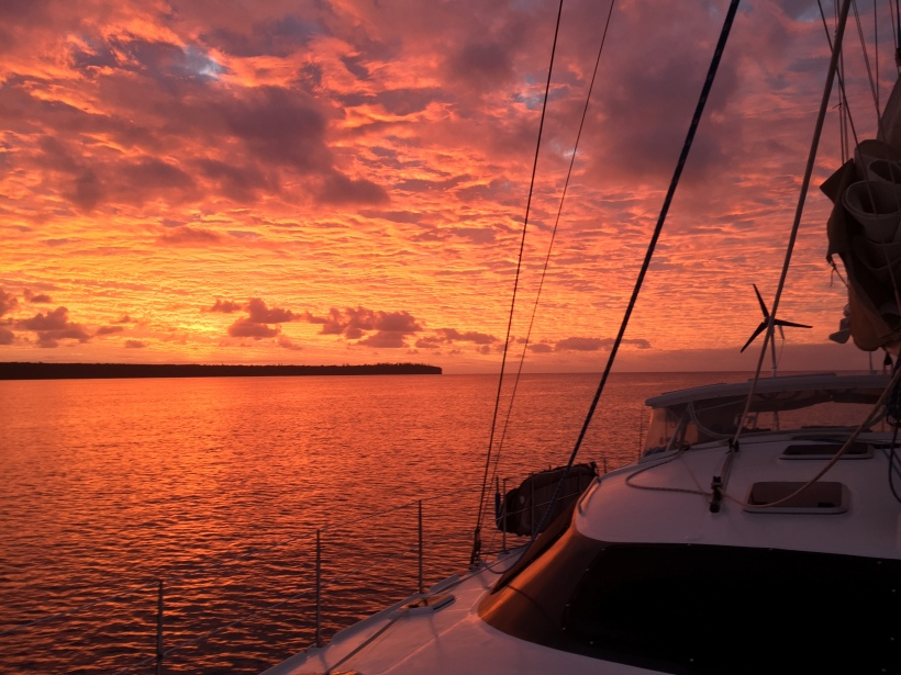 Sunset at Lifou Island